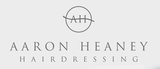Aaron Heany hairdressing logo